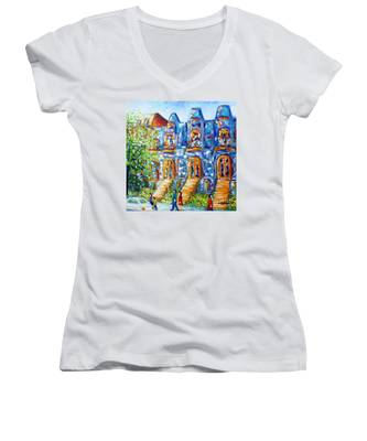 Somewhere In Montreal - Cityscape Women's V-Neck