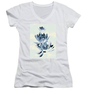 Study In Blue Women's V-Neck