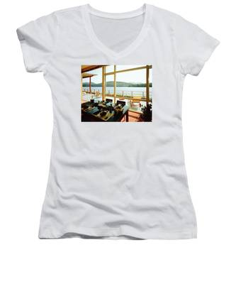 The House Of Mr. And Mrs. Alfred Rose On Lake Women's V-Neck