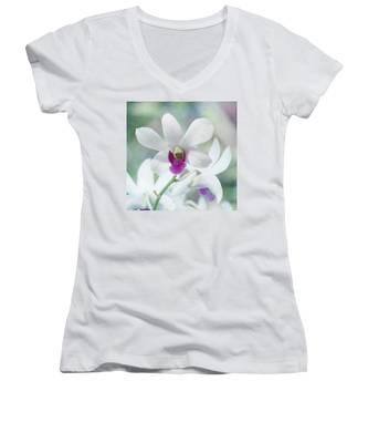 White Orchid Women's V-Neck