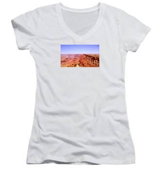 horizon in Grand Canyon Women's V-Neck
