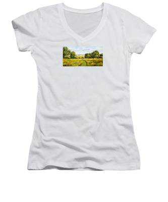 A Walk Thru The Fields Women's V-Neck