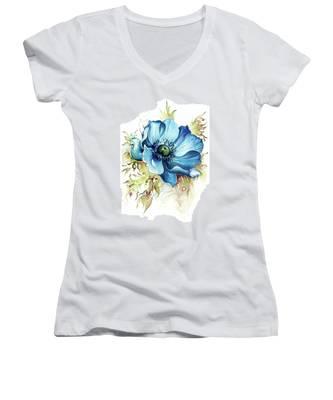 Blue Gem Women's V-Neck