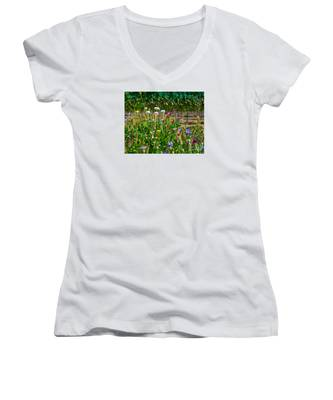 Country Wildflowers II Women's V-Neck