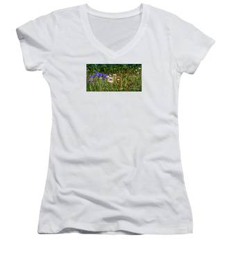 Country Wildflowers Iv Women's V-Neck