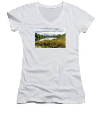 fort Clatsop on the Columbia River Women's V-Neck