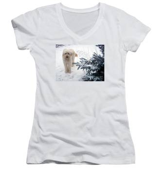Goldendoodle Women's V-Neck