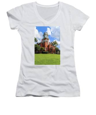 Gwinnett County Historic Courthouse Women's V-Neck
