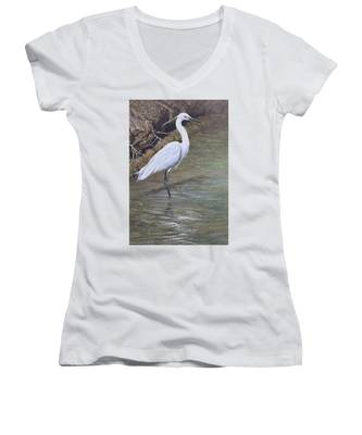 Little Egret Women's V-Neck