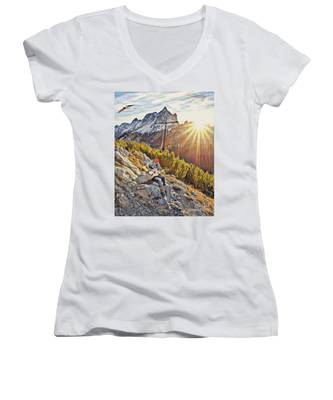 Mountain Of The Lord Women's V-Neck
