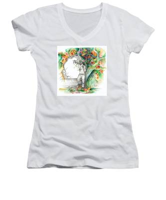 Open Your Eyes -the World Is Changing Women's V-Neck