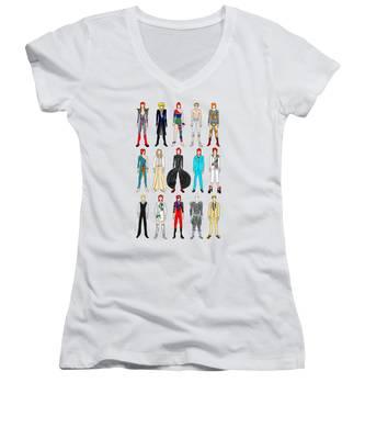 Liquid Women's V-Neck T-Shirts