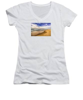 Quiet Reflections Of Hermosa Women's V-Neck