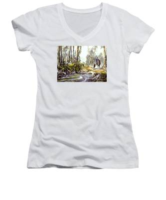 Rider By The Creek Women's V-Neck