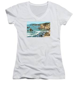 Sea And Cliffs Women's V-Neck