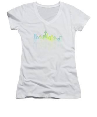 Blues Women's V-Neck T-Shirts