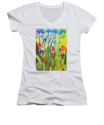Spring Flowers Women's V-Neck