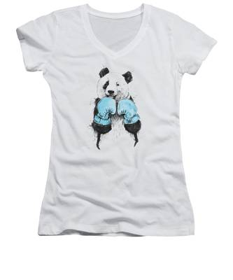 Boxers Women's V-Neck T-Shirts