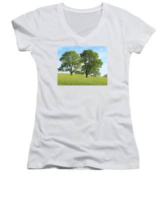 Summer Trees 4 Women's V-Neck