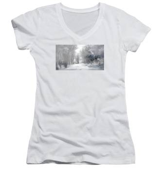 Wolves In The Mist Women's V-Neck