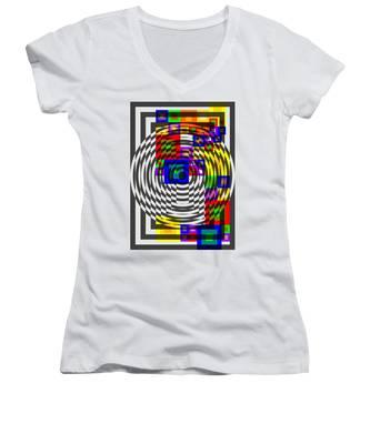 Circular Colour Fusion  Women's V-Neck