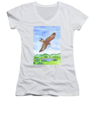 Flying Hawk Women's V-Neck