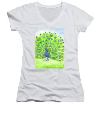 Peacock Women's V-Neck