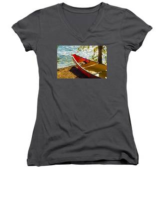 Kayak By The Water Women's V-Neck