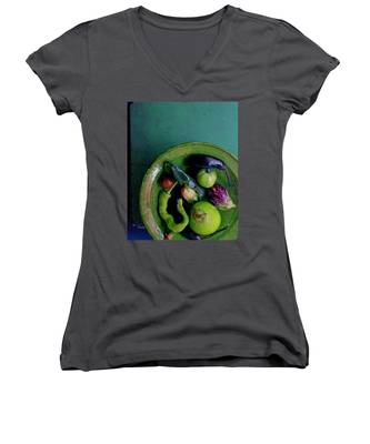 A Plate Of Vegetables Women's V-Neck