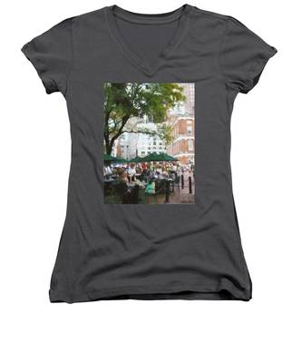 Afternoon At Faneuil Hall Women's V-Neck