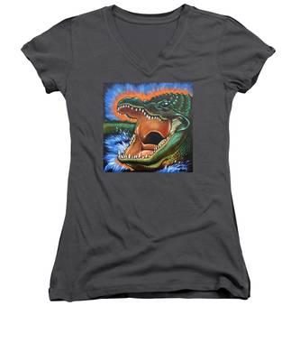 Alligator Women's V-Neck