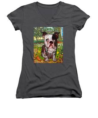 Bulldog Women's V-Neck