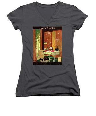 House And Garden Small House Number Women's V-Neck