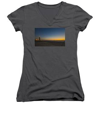 magical sunset moments at Caesarea  Women's V-Neck