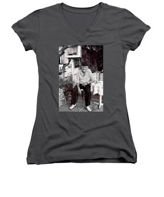 Old Man Of Old Town Women's V-Neck