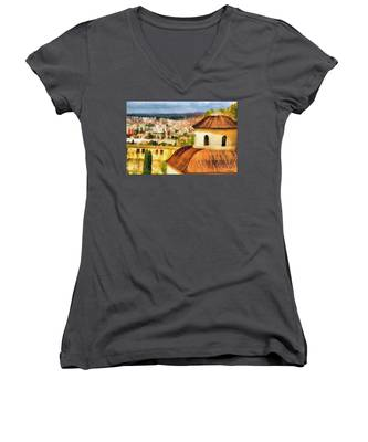 Pious Witness To The Passage Of Time Women's V-Neck