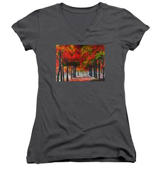 Red Alley II Women's V-Neck