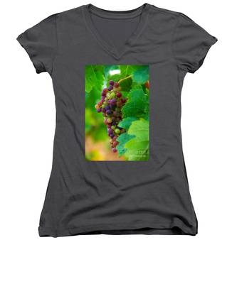 Red Grapes Women's V-Neck