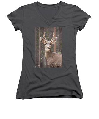 Snow Deer 1 Women's V-Neck
