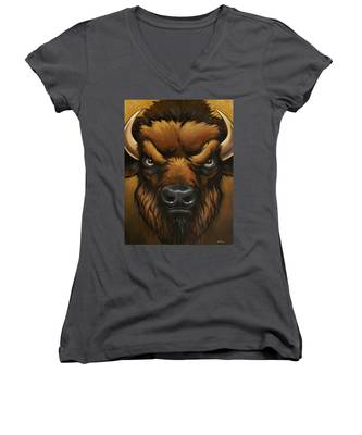 The Mighty Bison Women's V-Neck