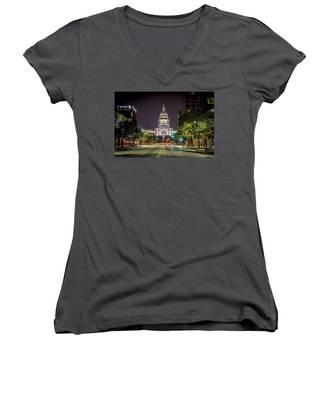 The Texas Capitol Building Women's V-Neck