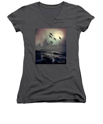Winter Golden Hour Women's V-Neck