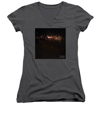 Demons Down The Stairs Women's V-Neck