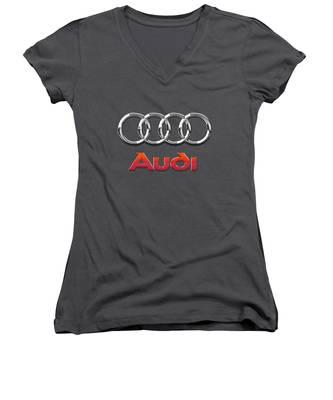 Audi Ag Women's V-Neck T-Shirts