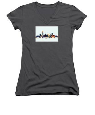 Oklahoma City Skyline Women's V-Neck