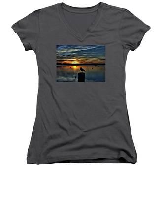 Sunrise Onset Pier Women's V-Neck