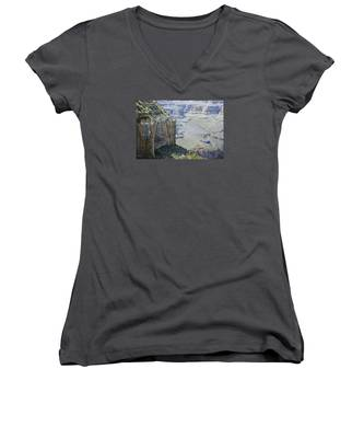 Afternoon At The Canyon Women's V-Neck