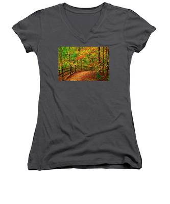 Autumn Bend - Allaire State Park Women's V-Neck