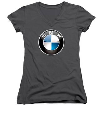 Bmw Women's V-Neck T-Shirts