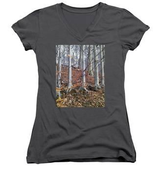Beech Trees Women's V-Neck